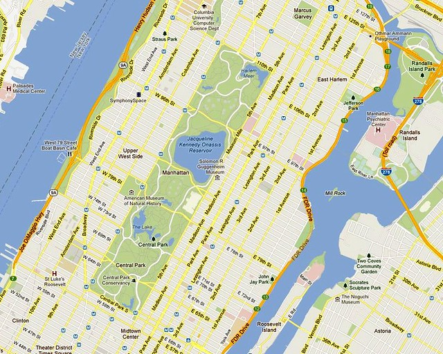 Central Park Map New York Central Park New York City Map