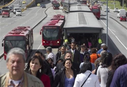 TransMilenio bus rapid transit system in Bogota