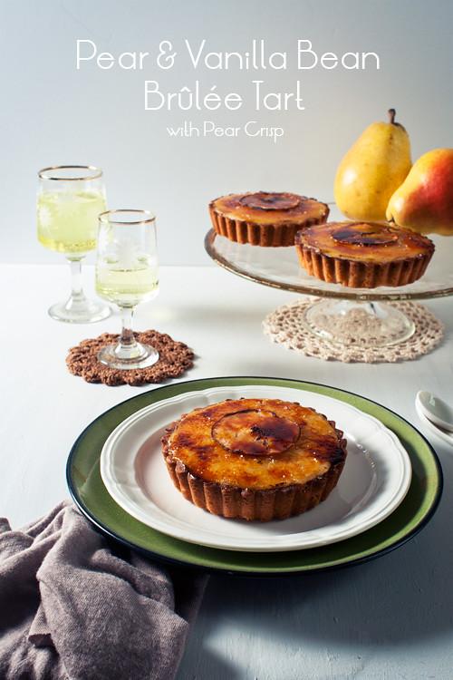 Pear Vanilla Bean Brûlée Tarts + Pear Crisp