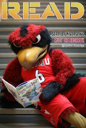 Rudy the Redhawk's READ poster