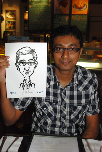 caricature live sketching for emc NUS - 9
