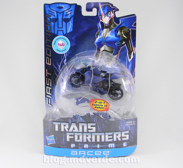 Transformers Arcee Deluxe - Prime First Edition - caja