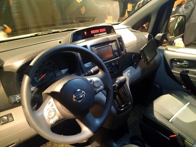 Driver's compartment of the Nissan NV200 NYC taxi
