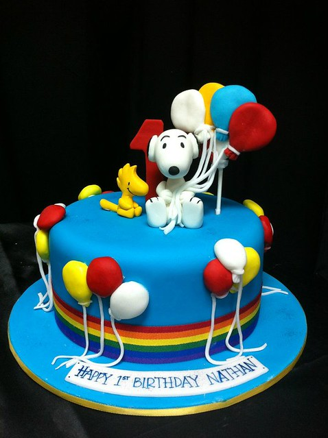Cakeaters Edible Arts : Snoopy cake Flickr - Photo Sharing!