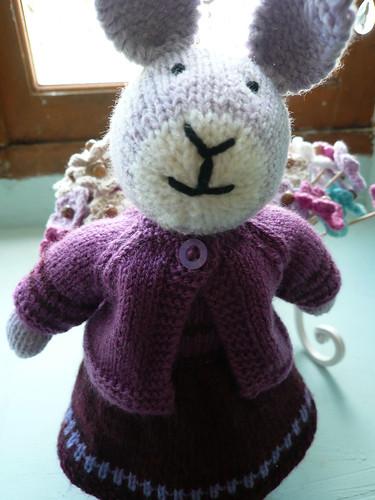 Lavender Bunny, close