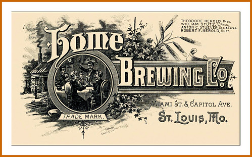 1892  The Home Brewing Co., St. Louis MO  Trade Mark - A. Lambrecht engraver by carlylehold
