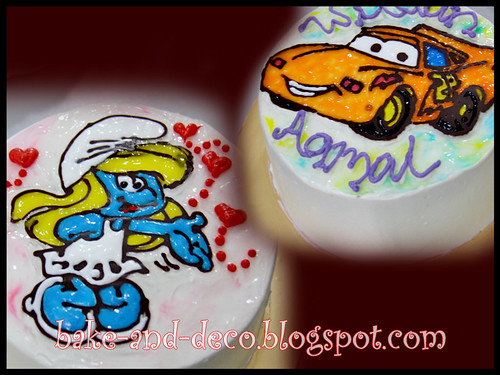 DRAWING ON BUTTERCREAM CAKE ~ 8 MARCH 2012