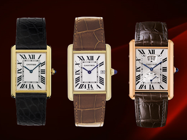 Cartier Tank Watch - rectangle square watches