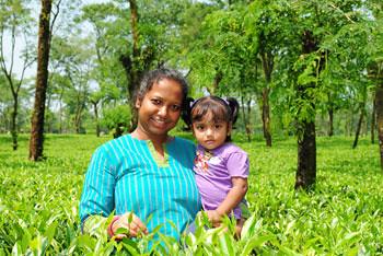 Smita & Rianna at Tea Garden