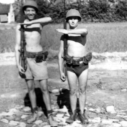 Deux andouilles combattantes