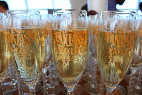Disney Fantasy Inaugural champagne glasses