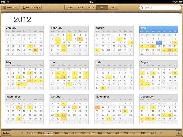 Calendar on iPad