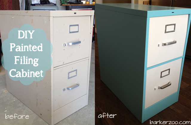 DIY Painted Filing Cabinet Tutorial | Aileen Barker