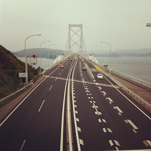 大鳴門橋、上から
