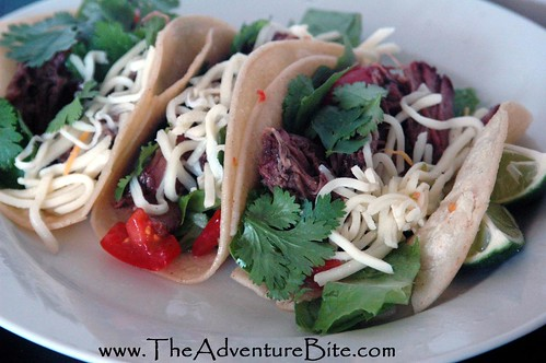 Applewood Smoked Shredded Beef Tacos | The Adventure Bite