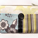 blue flower stripes and ribbon double pouch