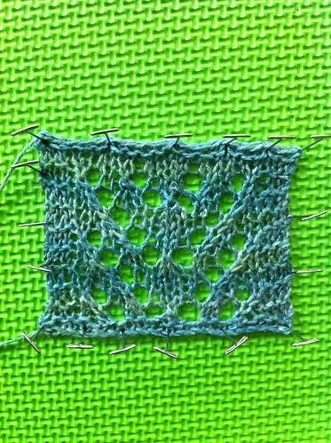 Mystery shawl swatch