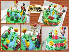 Plant vs Zombie Birthday Cake