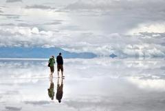 مرآة طبيعية في بوليفيا