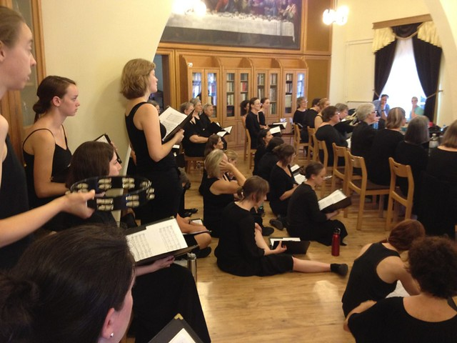 WVC Rehearsing in St. Stephen's Basilica