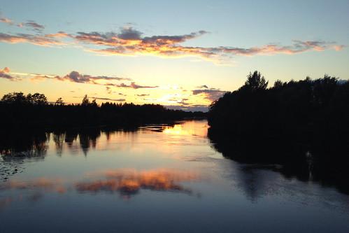 sunset suomi finland river iphone pori kokemäenjoki iphone4s