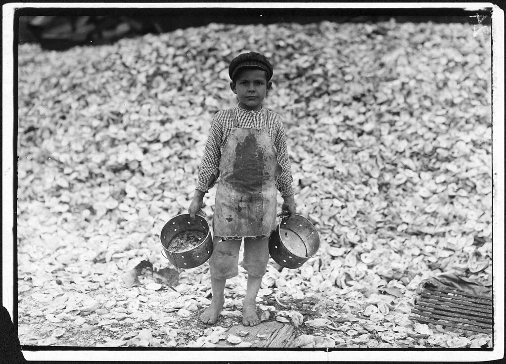 Photograph of a Young Shrimp Picker Named Manuel, 1912