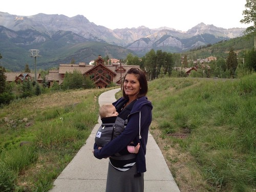 My favorite baby and my favorite mountains.