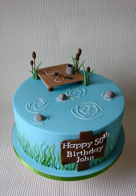 Fish Theme Birthday Birthday Cake http://www.flickr.com/photos/27185893@N07/7508329510/