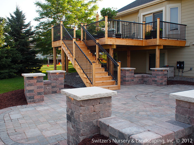 Backyard Deck Design : Deck & Patio ~ MN Backyard Ideas  Custom Designed & Install