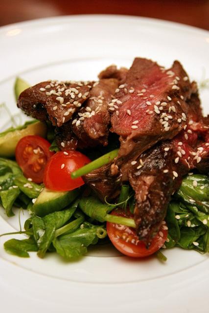 Steak salad that was better than the steak itself