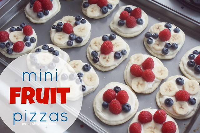 mini fruit pizzas (paint chip madness)