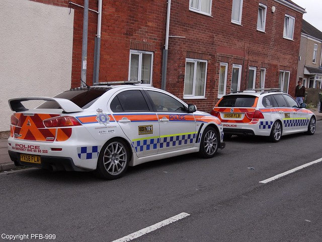humberside police mitsubishi evolution x and bmw 335d touring m sport road crime unit flickr. Black Bedroom Furniture Sets. Home Design Ideas
