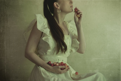 girl with a cherry orchard by elle.hanley
