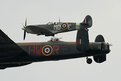 aviation, airplane, propeller driven aircraft, vehicle, supermarine spitfire, fighter aircraft, avro lancaster,