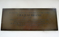 Photo of François-René de Chateaubriand brass plaque