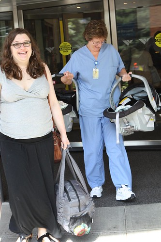 Jen and the Wombats Leave the Hospital with Nurse Kathy