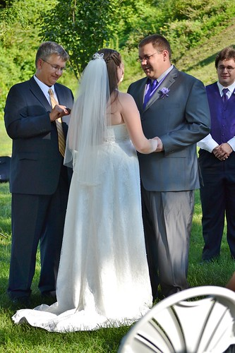 Zach saying his vows