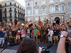 protesta músicos de Barcelona