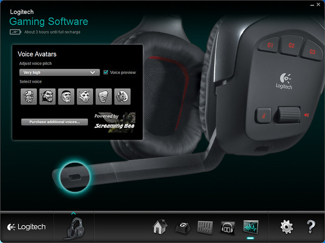 Logitech Gaming Software - Voice Avatars