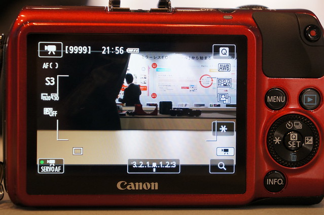 EOS M液晶画面