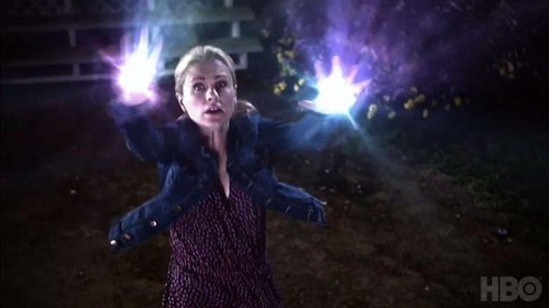 Sookie shooting sparks out of her hands