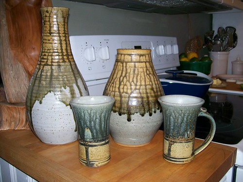 drippy glaze green pottery bought in two different states! by thefarmersdaughter