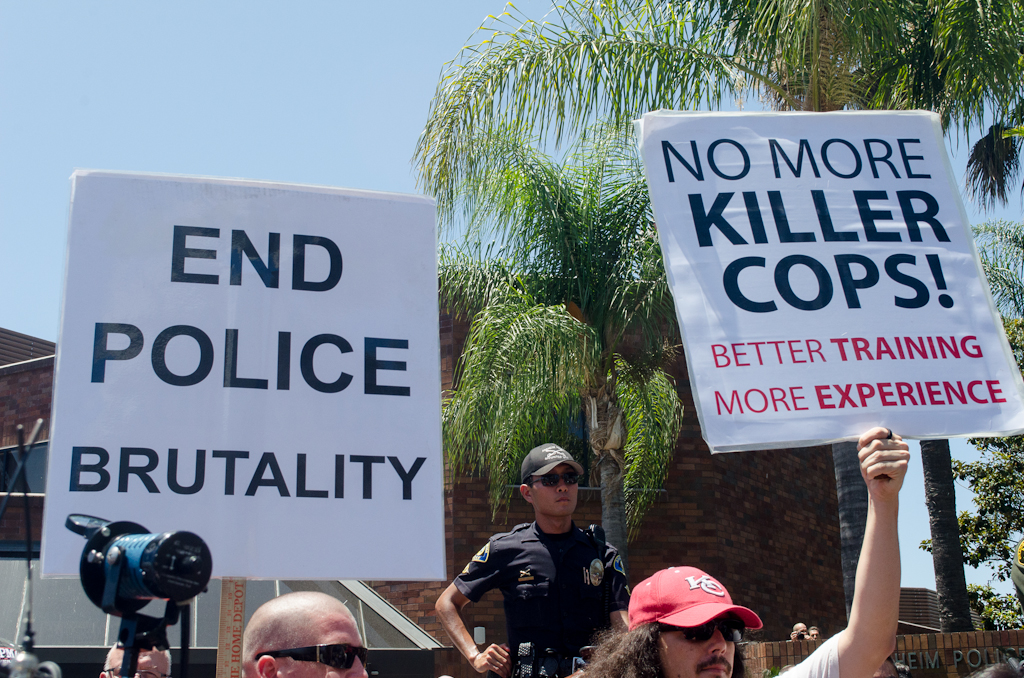 Police Brutality Protest - Anaheim - July 29 2012 - 10
