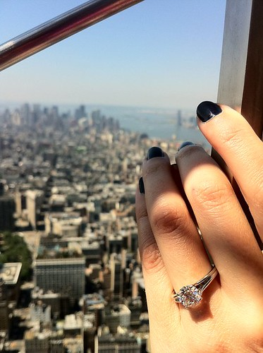 engagement ring at the top of the Empire State Building