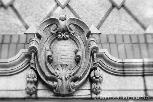Wheaton Theatre Detail (B&W)