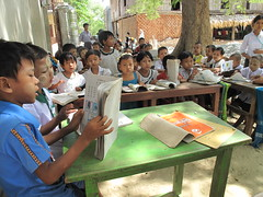 Myanmar (Burma)—Poor children who can't afford state schools can get a basic education at schools started by Buddhist monasteries. To date, AFSC has helped train about 40 abbots in school management.