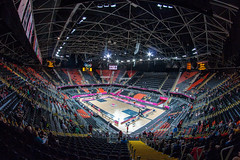 London 2012 Olympic Basketball Arena fish eye view