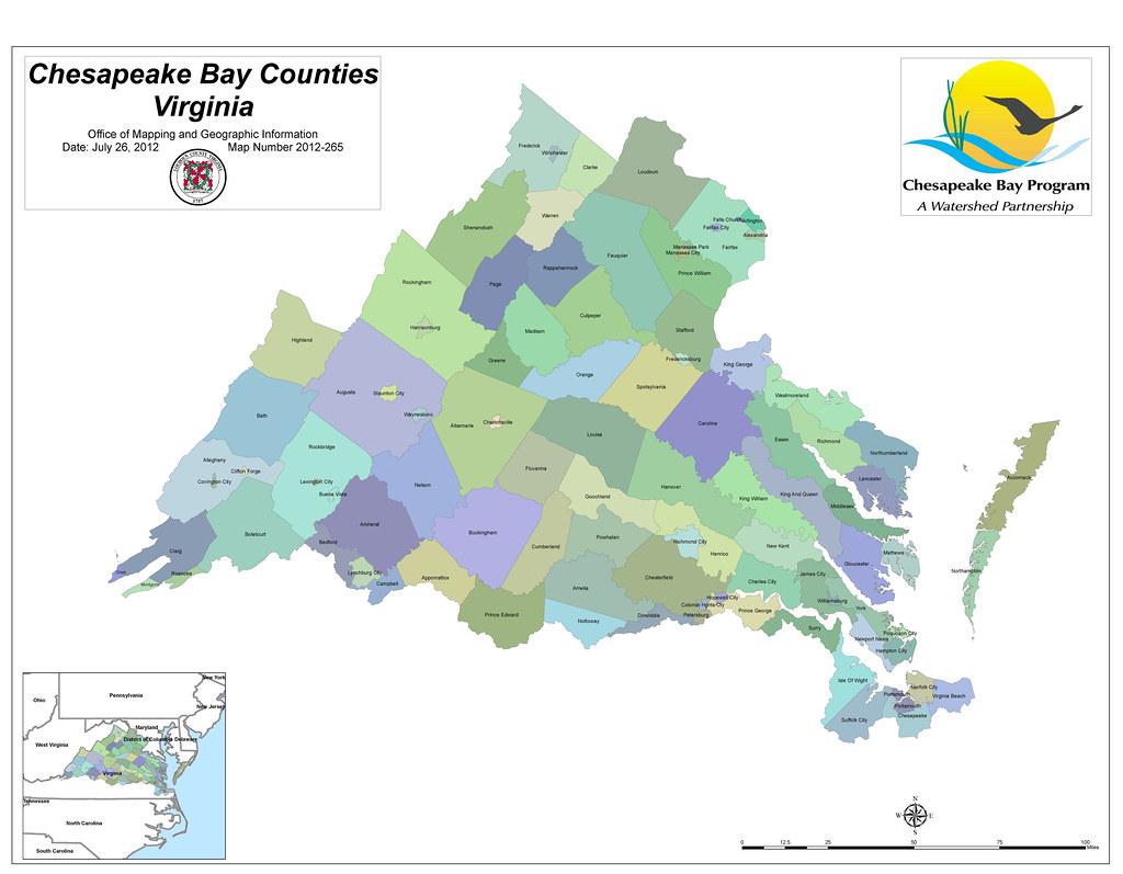 Virginia Counties In The Chesapeake Bay Watershed Map Numb Flickr
