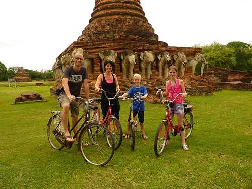 Biking in Sukhothai