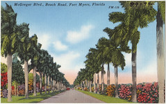 McGregor Blvd., Beach Road, Fort Myers, Florida
